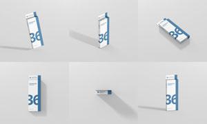 悬挂样式的包装盒应用效果贴图模板