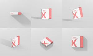 纸质包装盒应用效果贴图模板源文件