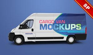货运车辆车身广告图案贴图设计模板
