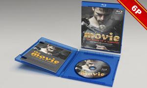 简装版蓝光碟包装盒贴图设计源文件