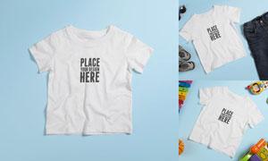 童装短袖衫图案印染效果贴图源文件