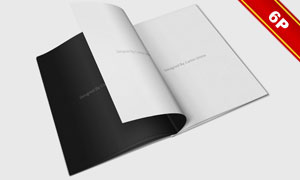 打开的书内页特写效果贴图分层模板