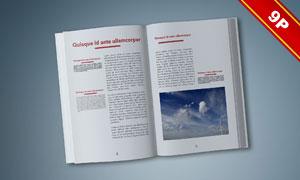 书籍装帧应用效果展示贴图设计模板