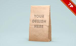 纸质包装袋图案印刷效果贴图源文件