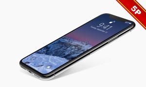 黑色iPhoneX屏幕内容展示贴图模板