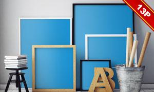 艺术绘画创作展示效果贴图分层模板