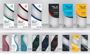 通用广告创意易拉宝模板素材集V46