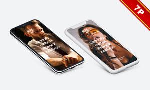 黑白两款iPhoneX渲染效果贴图模板