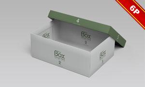 鞋盒内外包装图案效果展示贴图模板