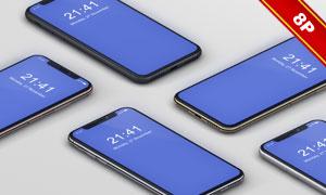 iPhoneX智能手机展示效果贴图模板