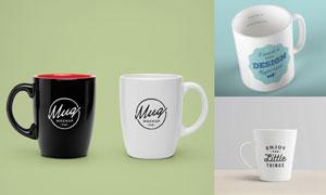 三款马克杯装饰图案效果贴图源文件