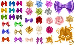 色彩鲜艳的质感蝴蝶结创意矢量美高梅娱乐