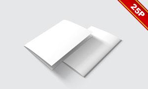 对开样式宣传小册子贴图模板源文件