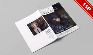 时尚杂志封面与内页贴图模板源文件