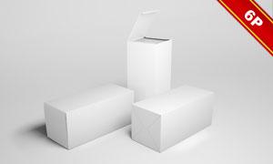 多视角展示的纸盒包装贴图模板文件