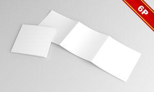 方形尺寸三折页应用效果贴图源文件