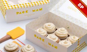 几款蛋糕外包装图案贴图设计源文件