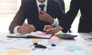 在协同工作的商务职场人物高清图片