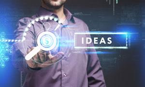 光效元素与商务人物等创意高清图片