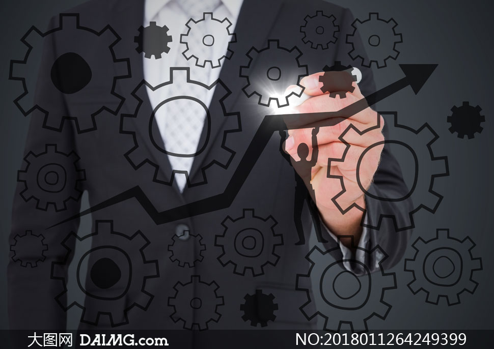 人物手势与箭头等元素创意高清图片