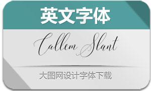 CallemSlant(英文字体)