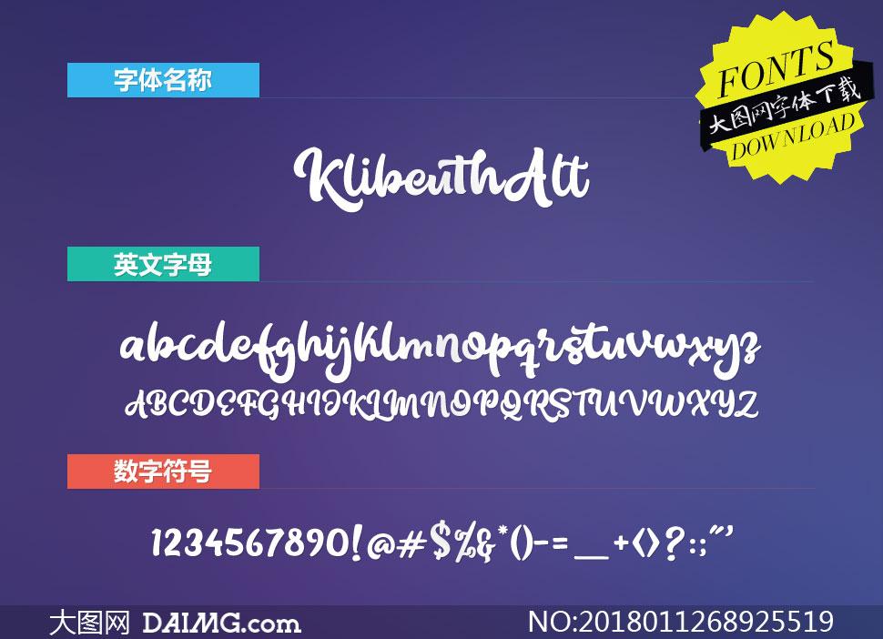 KlibeuthAlternates(英文字体)
