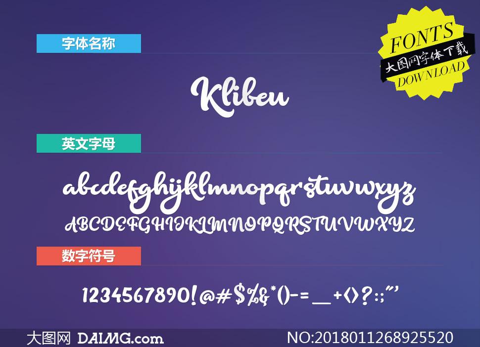 Klibeuth(英文字体)