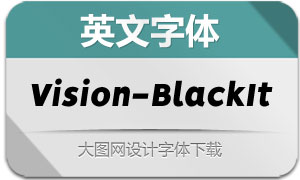 Vision-BlackItalic(英文字体)