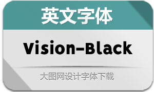 Vision-Black(英文字体)