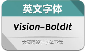 Vision-BoldItalic(英文字体)