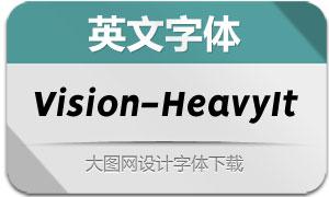 Vision-HeavyItalic(英文字体)