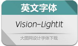 Vision-LightItalic(英文字体)