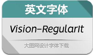 Vision-RegularItalic(英文字体)