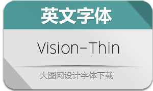 Vision-Thin(英文字体)