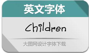 ChildrenHandwritten(英文字体)