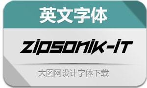 ZipSonik-Italic(英文字体)