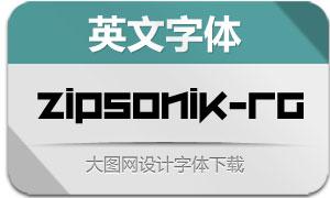 ZipSonik-Regular(英文字体)