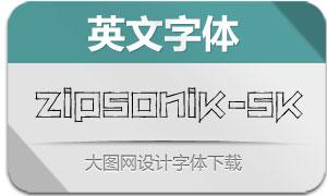 ZipSonik-Sketch(英文字体)