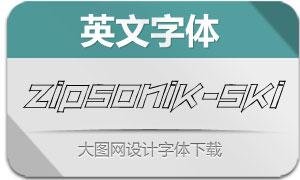 ZipSonik-SketchItalic(英文字体)