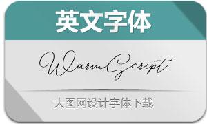 WarmScript-Regular(英文字体)