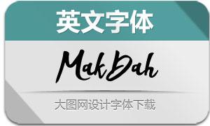 MakDah(英文字体)