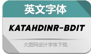 KatahdinRough-BoldIt(英文字体)