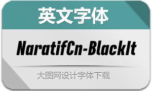 NaratifCond-BlackItalic(英文字体)