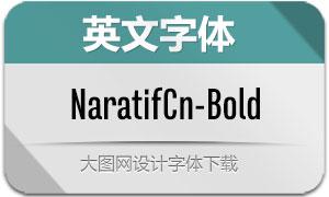 NaratifCond-Bold(英文字体)