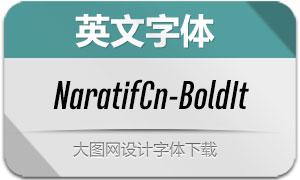 NaratifCond-BoldItalic(英文字体)