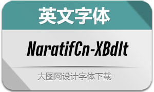 NaratifCond-ExBdIt(英文字体)