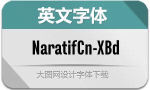 NaratifCond-ExtraBold(英文字体)