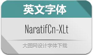 NaratifCond-ExtraLight(英文字体)