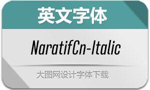 NaratifCond-Italic(英文字体)