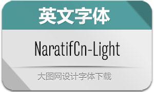 NaratifCond-Light(英文字体)
